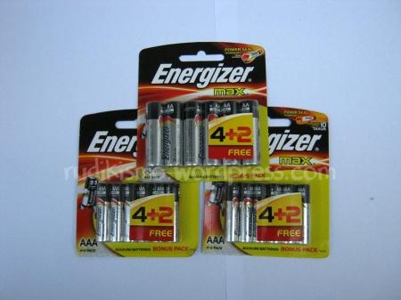 Baterai cadangan untuk lampu depan sepeda, lampu belakang sepeda, dan kamere saku